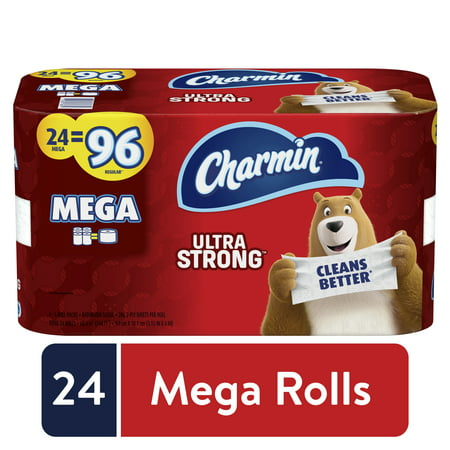 Charmin Ultra Strong Toilet Paper, 24 Mega Rolls, 6864 Sheets Now $23.82 **IN STOCK**