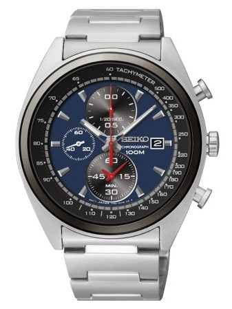 SEIKO SNDF89P1,Men's Chronograph,Stainless Steel Case & Bracelet,date,100m WR,SNDF89