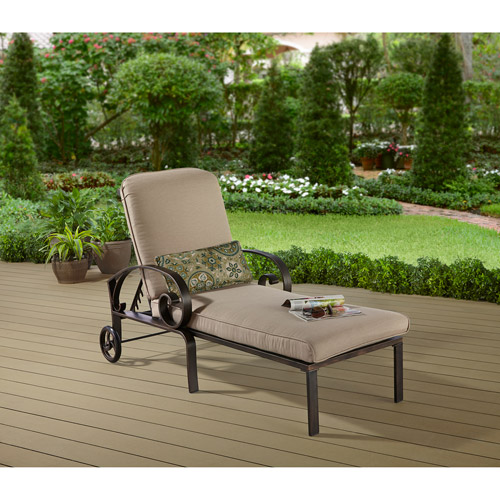 Better Homes and Gardens Verona Bay Outdoor Chaise Lounge with Wheels : chaise lounge with wheels - Sectionals, Sofas & Couches