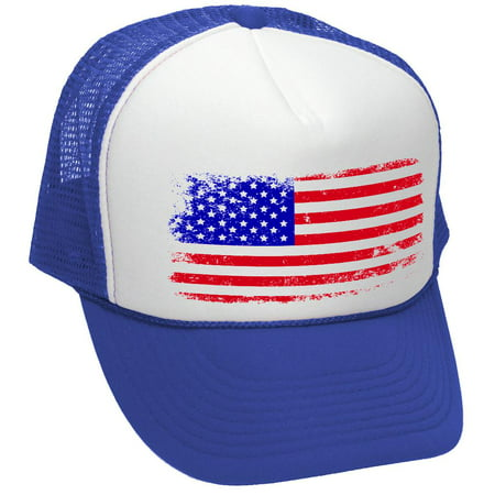 AMERICAN FLAG - 4th of july usa america patriotic - Mesh Trucker Hat (American Hat)