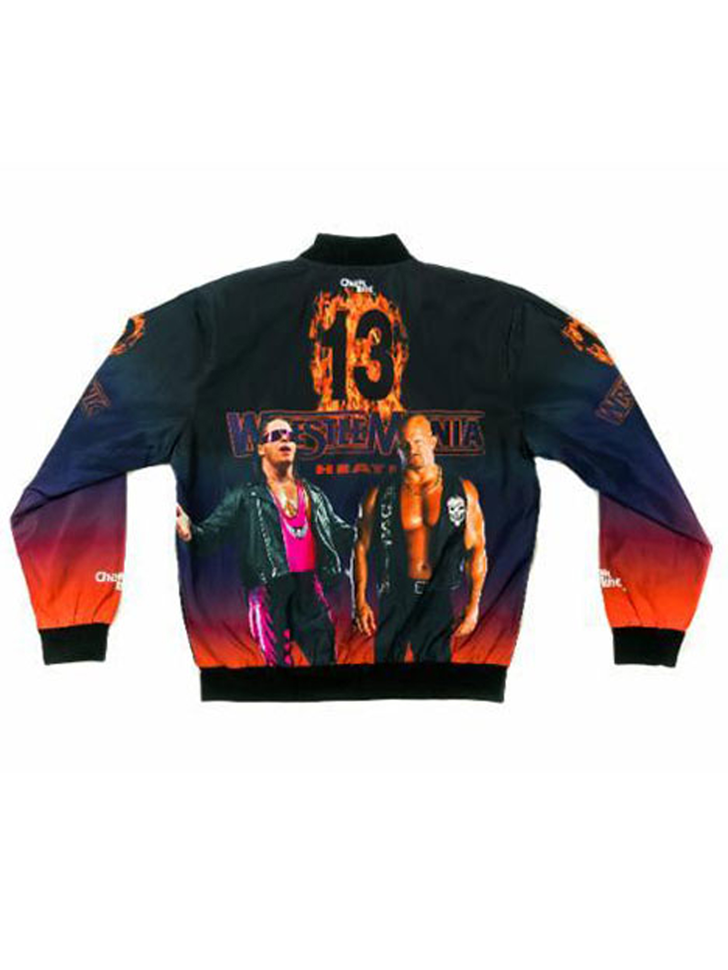 Official WWE Authentic WrestleMania 13 Retro Fanimation Chalk Line Jacket by