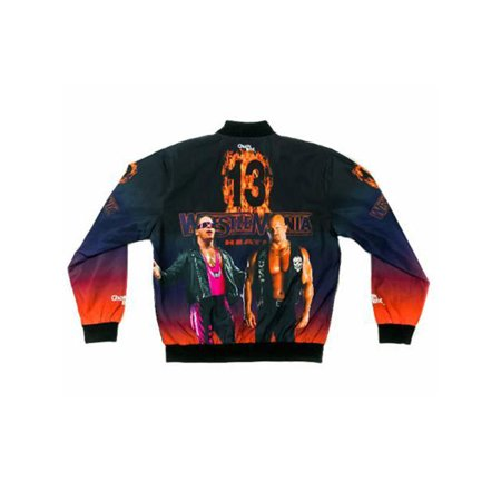 - Official WWE Authentic WrestleMania 13 Retro Fanimation Chalk Line Jacket Multi Small