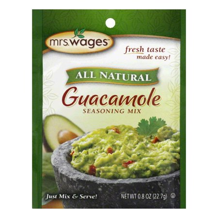 Mrs. Wages Guacamole Seasoning Mix, 0.8 OZ (Pack of -
