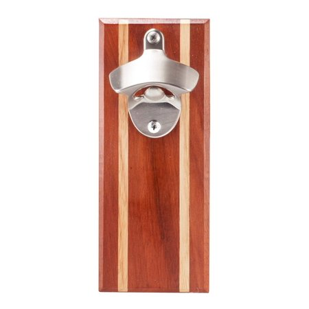 - Bruntmor, CAPMAGS Strong Magnetic w/Zinc Alloy Beer Opener & Cap Catcher - Epitong Wood Hand Painted