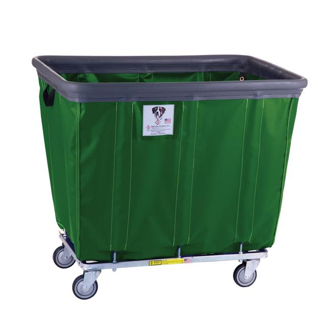 R&B Wire Products 412SOBC-FG 12 Bushel Vinyl Bumper Truck All Swivel Casters, forest Green - 39.5 x 29.5 x 35.5 in.