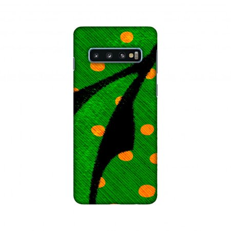 Samsung Galaxy S10 Case, AMZER Ultra Slim Hard Shell Designer Printed Case for Samsung Galaxy S10 - Lady Bug - Mustard Dots On Butterfly Fibre Wing