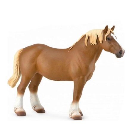 Breyer CollectA 1/18 Model Horse - Chestnut Belgian Mare (Breyer Chestnut Model)