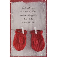 American Greetings Two Red Mittens Christmas Card