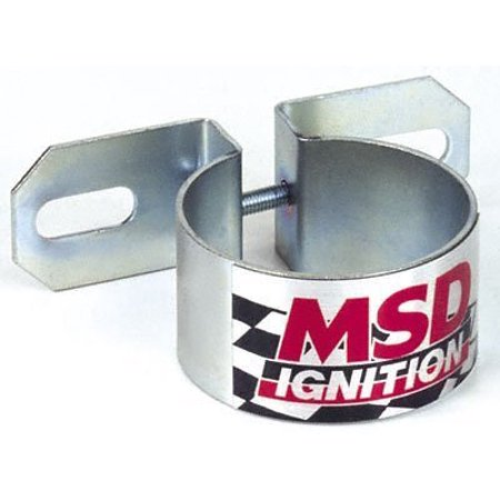 8213 Chrome Universal Coil Bracket, Coil canister bracket By MSD