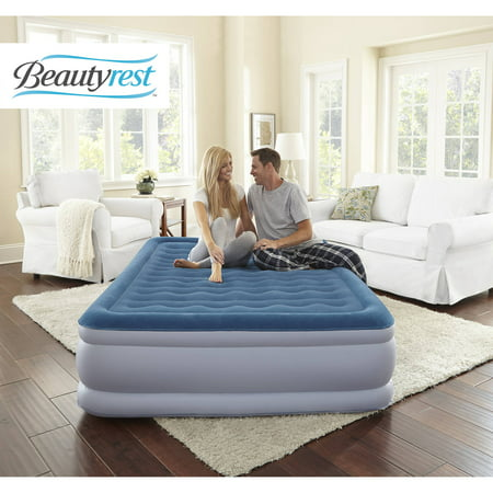 Raised Aerobed (Beautyrest Silver Extraordinaire Raised Air Mattress with iFlex Support & Hybrid Pump, Multiple Sizes, 1 Each )