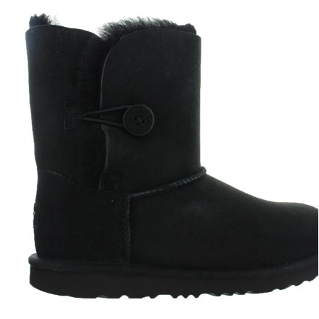 Kids UGG Bailey Button II Boot Black 1017400K-BLK - Child Uggs
