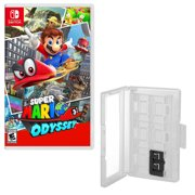 Hard Shell 12 Game Caddy and Super Mario Odyssey for Nintendo Switch