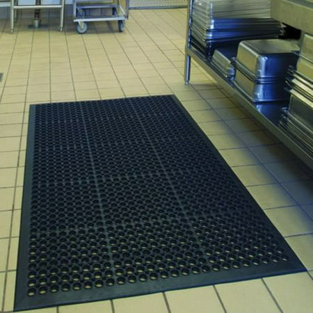 Rubber Kitchen Mat (Bar Kitchen Industrial Multi-functional Anti-fatigue Drainage Rubber Non-slip Hexagonal Mat 150*90cm )