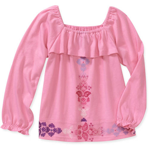 Healthtex Baby Girls' Peasant Screen Print Top