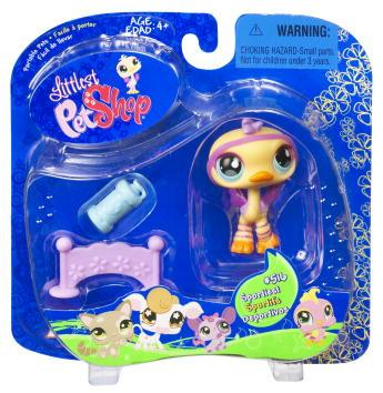 Littlest Pet Shop Portable Pets Ostrich Figure [Hurdle]