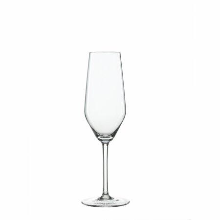 Glass Set, 4pcs Spiegelau Style 8.5 Oz Champagne Flute Drinking Clear Glasses Set