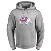 Fresno State Bulldogs Classic Primary Logo Pullover Hoodie - Ash