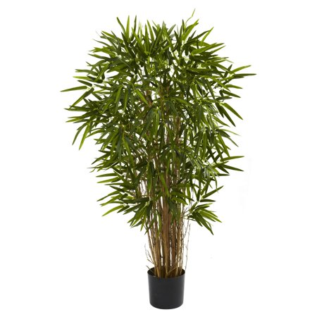 - Nearly Natural 4-ft. Artificial Twiggy Bamboo Silk Tree, Green