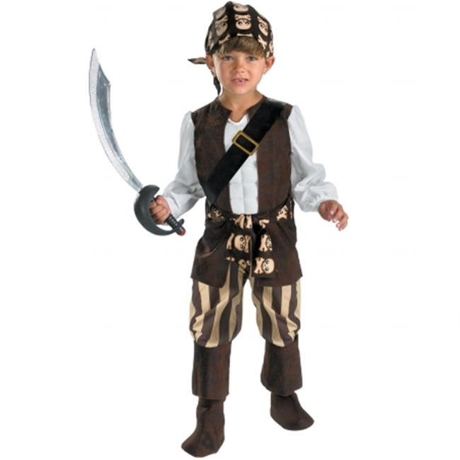 Rogue Pirate Toddler Costume - Brown - Size 4-6