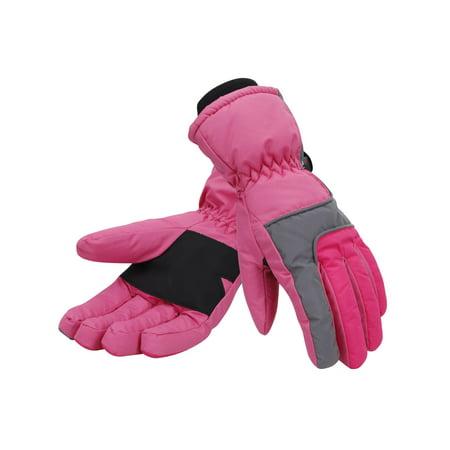 Pink Ski Gloves - Simplicity Women 3M Thinsulate Lined Waterproof Snowboard / Ski Gloves,S,Pink