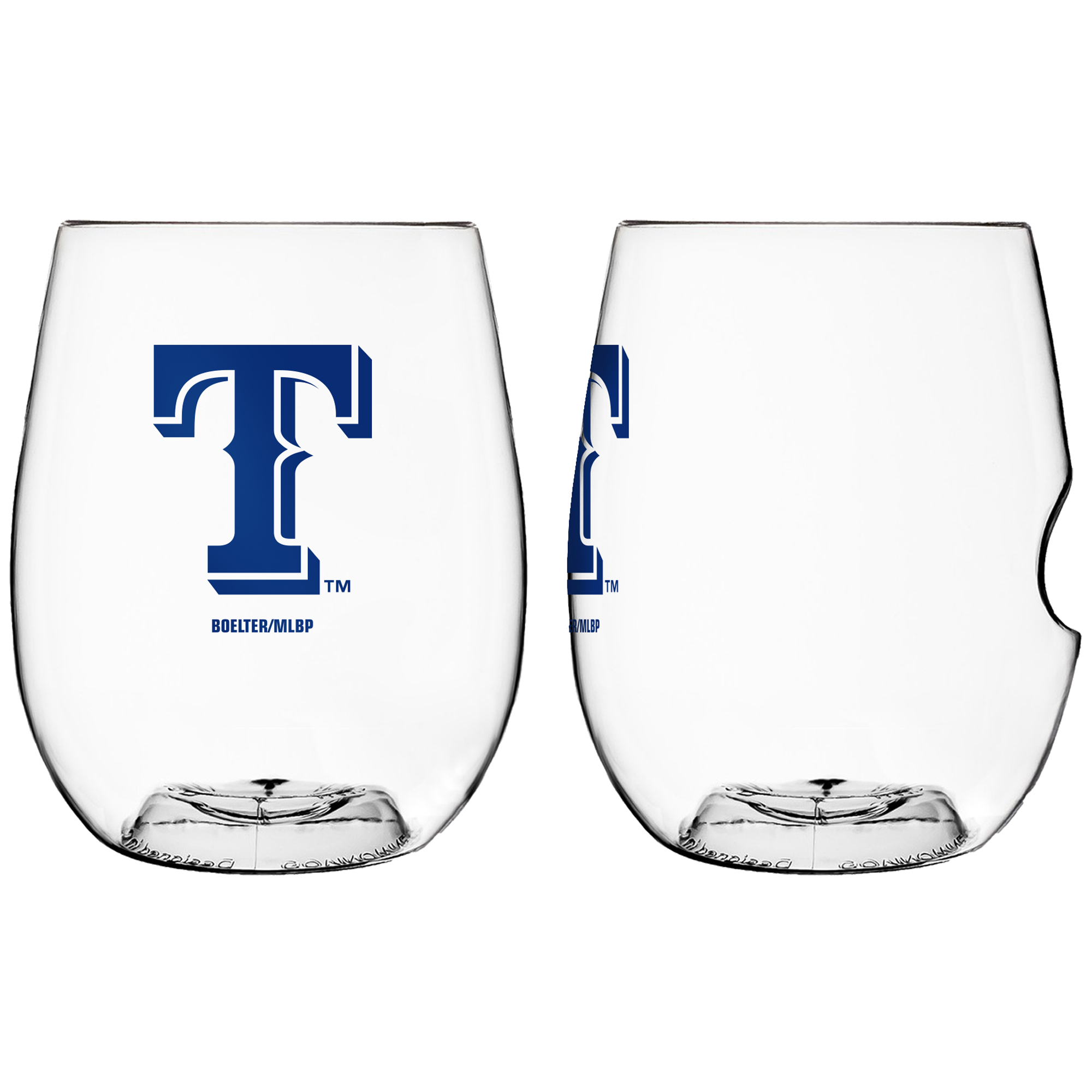Texas Rangers 16oz. On The Go Plastic Wine Glass - No Size