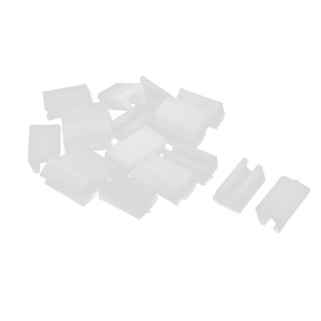 Unique Bargains 20 Pcs Antislip Plastic U Shape 7mm Chair Foot Cover Table Furniture Leg Protector White ()