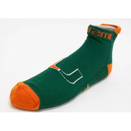 Miami Hurricanes Green Footie Sock