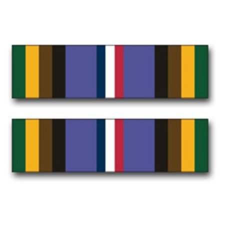3.8 Inch Army Armed Forces Expeditionary Medal Ribbon Vinyl Transfer (Global War On Terrorism Expeditionary Medal Army)