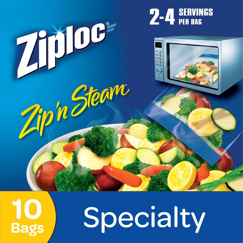 Ziploc Zip N Steam Microwave Cooking Bags Medium 10