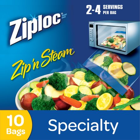 Ziploc Zip N Steam Microwave Cooking Bags Medium 10
