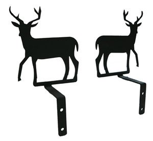 Village Wrought Iron CUR-S-3 Deer Swags