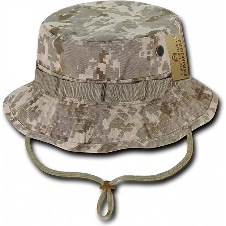 RapDom Vintage Washed Jungle Mens Boonie Hat [Desert Digital - S] Boonie Hat Olive
