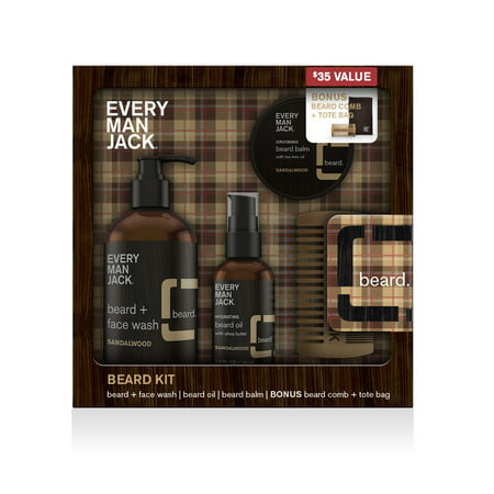 Every Man Jack Sandalwood Beard Gift Kit