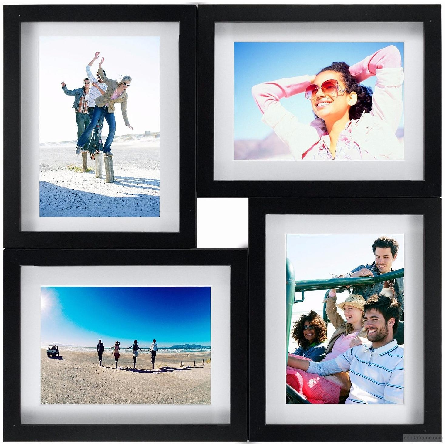 Black 4 Opening Puzzle Collage Frame For 8x10 5x7 Prints