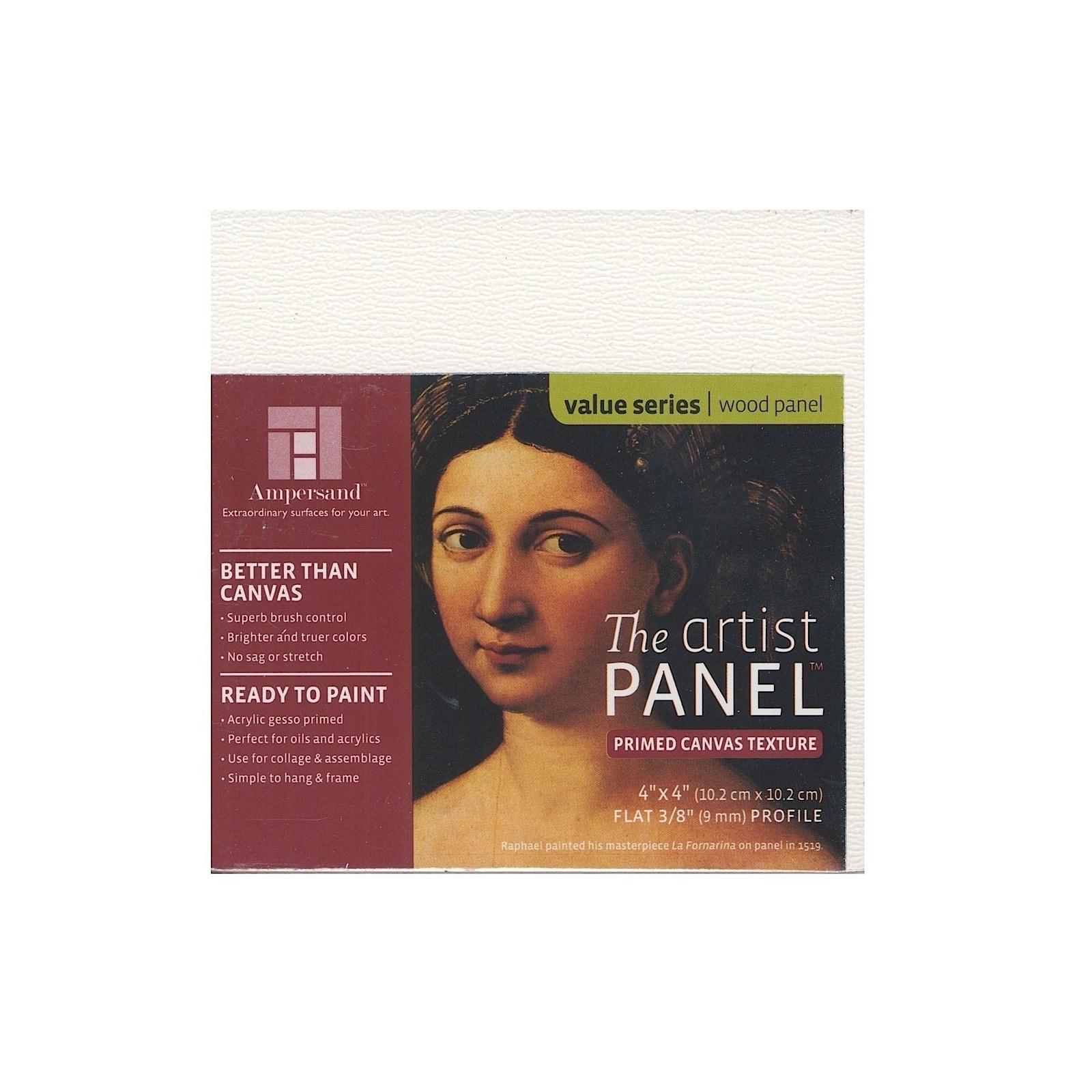 ampersand  the artist panel canvas texture flat profile