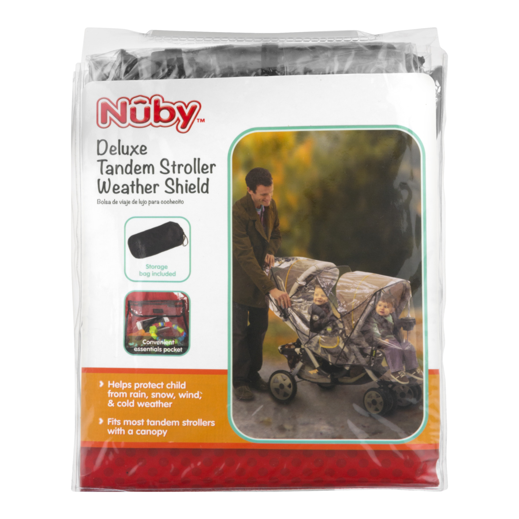 Nuby Deluxe Tandem Stroller Weather Shield, 1.0 CT