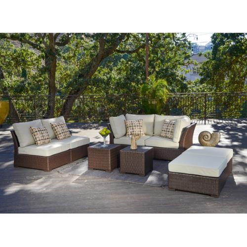 Corvus  Oreanne Outdoor 8-piece Brown Wicker Sofa Set