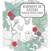 Harmony of Nature: Unwind. Create. Color. (Paperback)