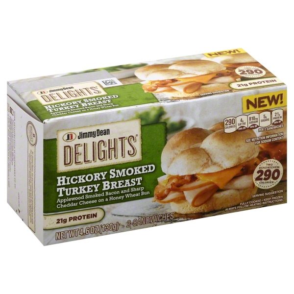 JIMMY DEAN DELIGHTS TURKEY BACON HONEYWHEAT