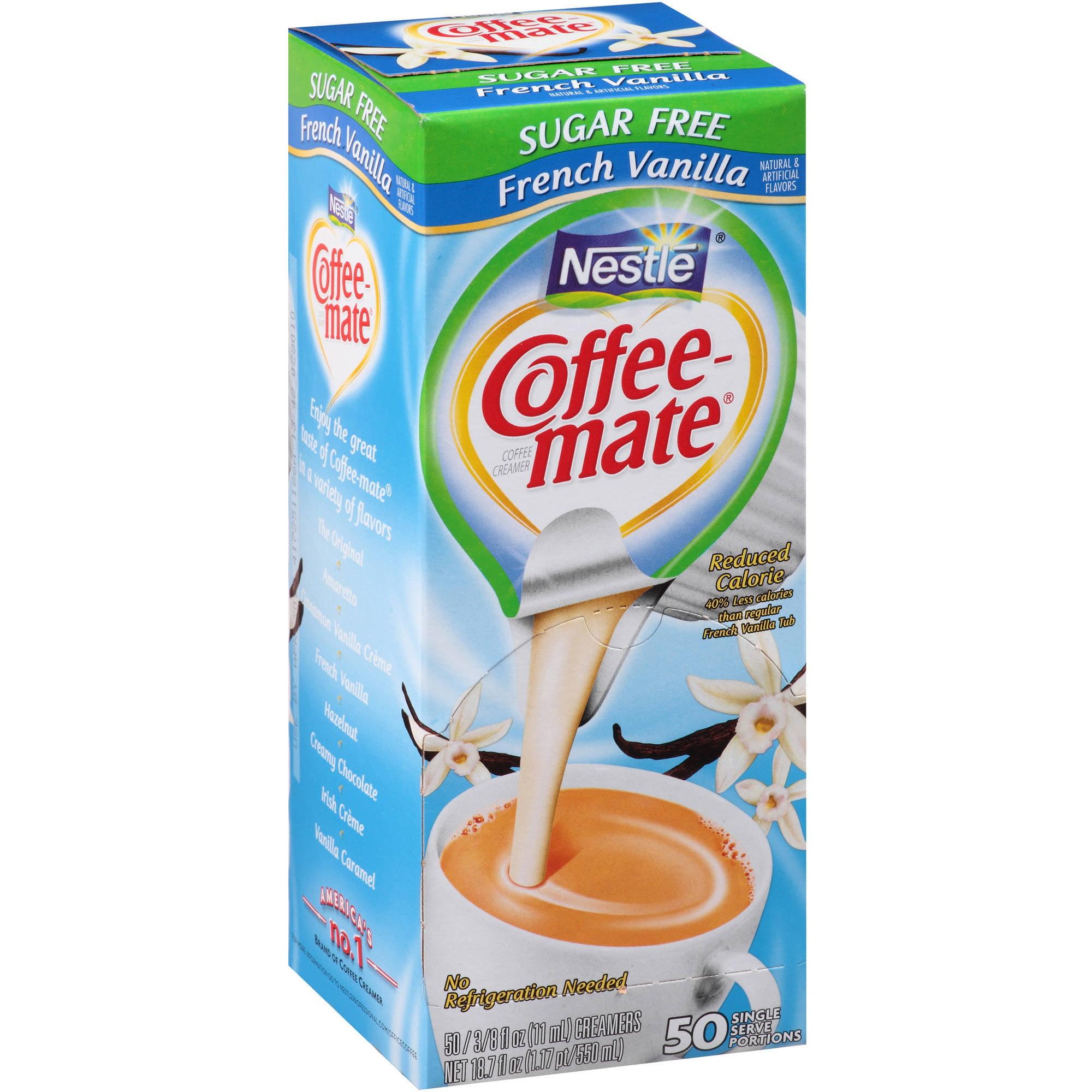Nestlé Coffee-mate Sugar Free French Vanilla Coffee Creamer 50-0.375 fl. oz. Tubs