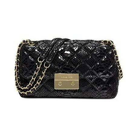 af8379d2f4bf0 Michael Kors - MICHAEL Michael Kors Womens Sloan Large Chain Shoulder Bag  Black Gold - Walmart.com