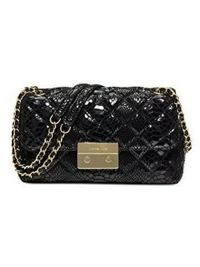 85f8363336a5b3 Product Image MICHAEL Michael Kors Womens Sloan Large Chain Shoulder Bag  Black/Gold