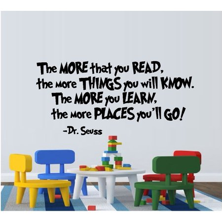The MORE that you READ:  WALL  DECAL, Dr. Seuss Theme HOME DECOR 13