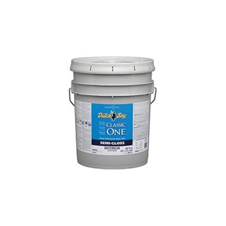 Dutch Boy 1 0048303 20 Interior Semi Gloss Latex Paint White 5 Gallon