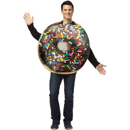 Get Real Doughnut Adult Halloween Costume - One Size](Halloween Donuts With Teeth)