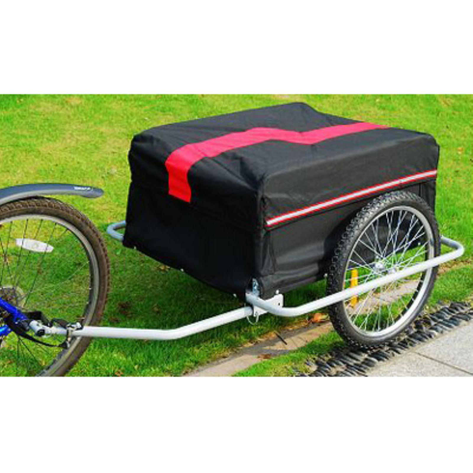 Aosom Elite II Large Bike Cargo Trailer - Black/Red Image 2 of 4