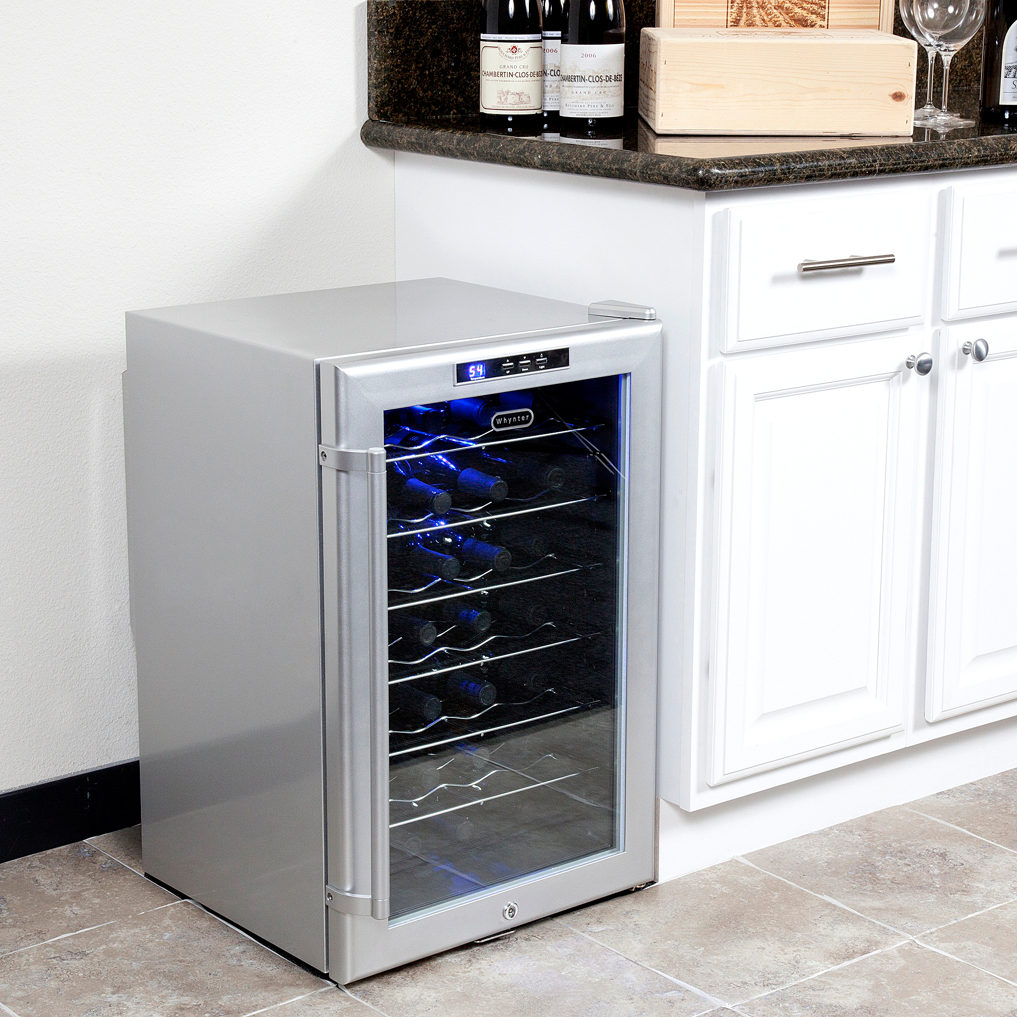 Whynter SNO WC-28S 28-Bottle Wine Cooler with Lock