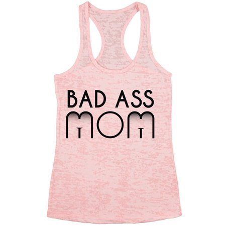 Awkward Styles Womens Bad Ass Mom Funny Graphic Burnout Racerback Tank Tops