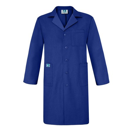 "Adar Universal 39"" Scrub Labcoat with Inner Pockets - 803 - Royal Blue - 38"
