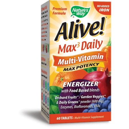 Nature's Way Alive! Whole Food Energizer Tablets, 60 Ct Alive Whole Food Energizer